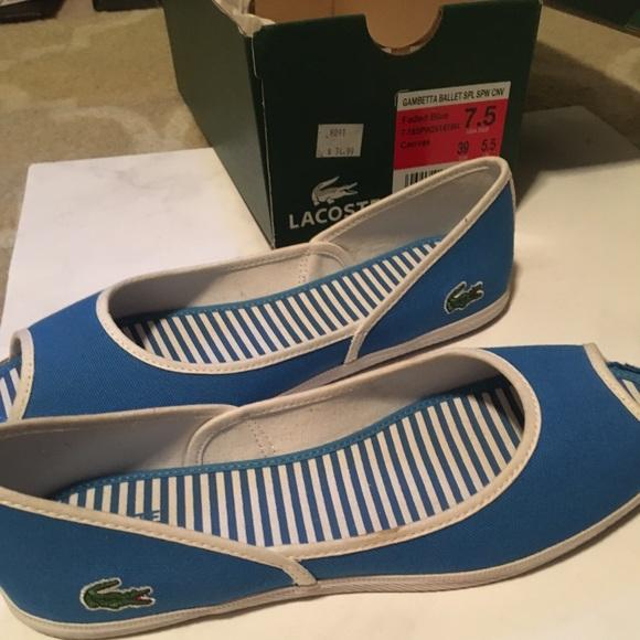Blue Open Toe Lacoste Shoe | Poshmark